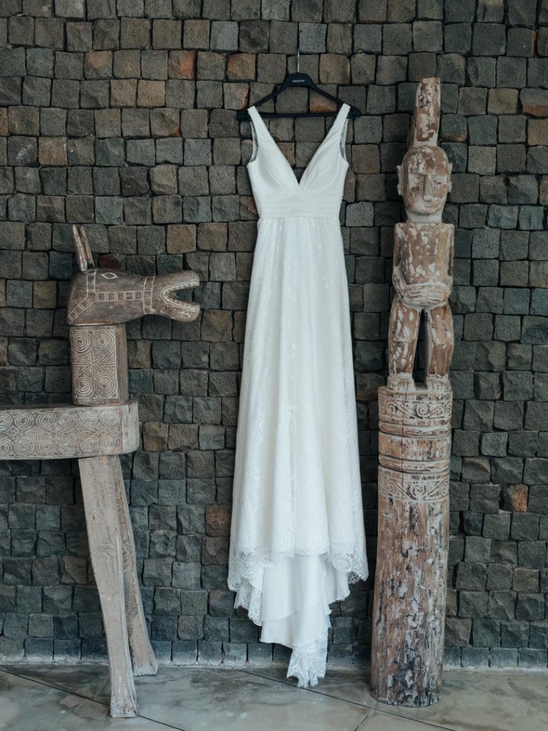 Robe de mariee avant la ceremonie