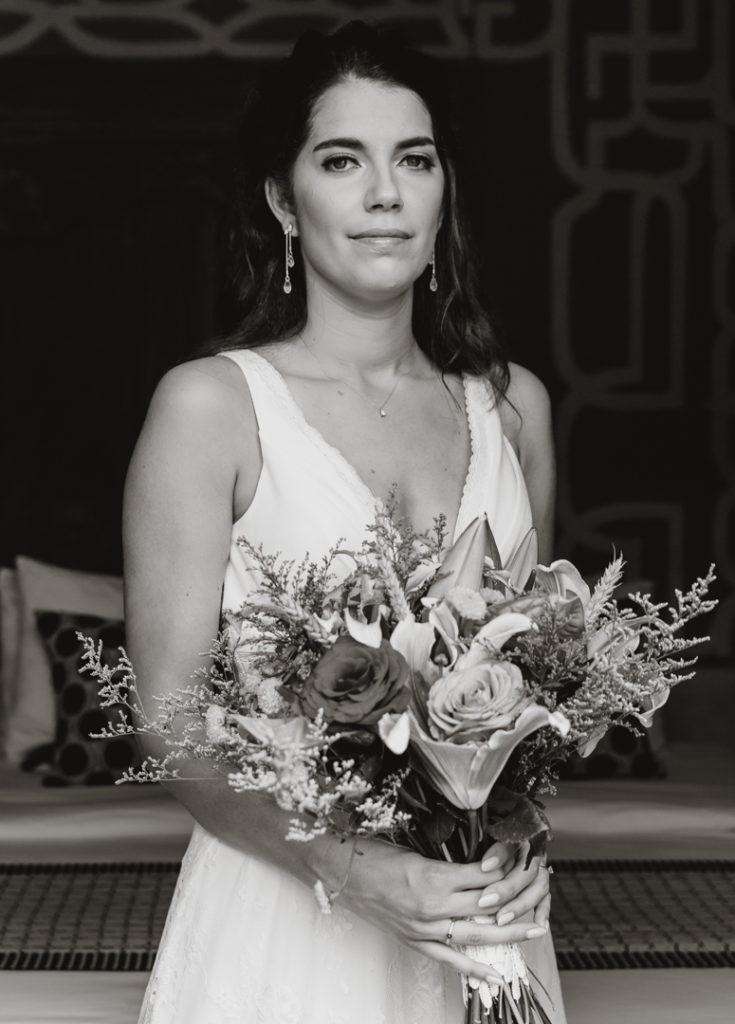 Portrait de la mariee avant le mariage