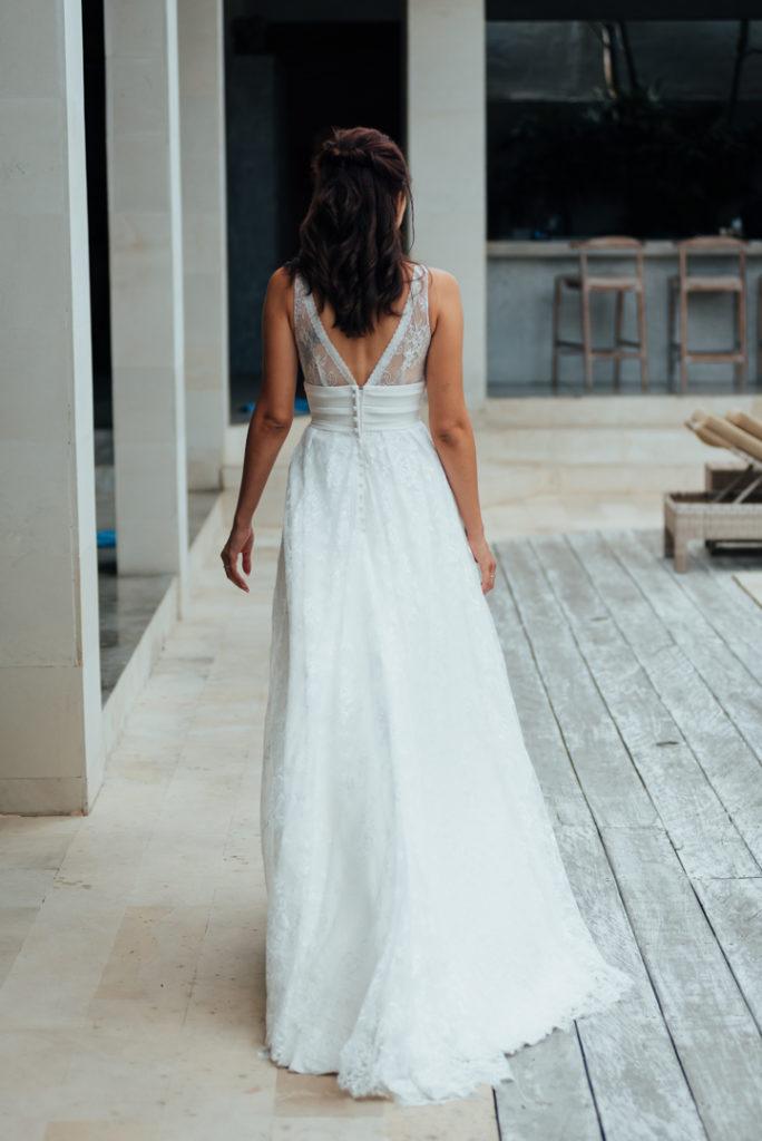 La robe de mariee vue de dos