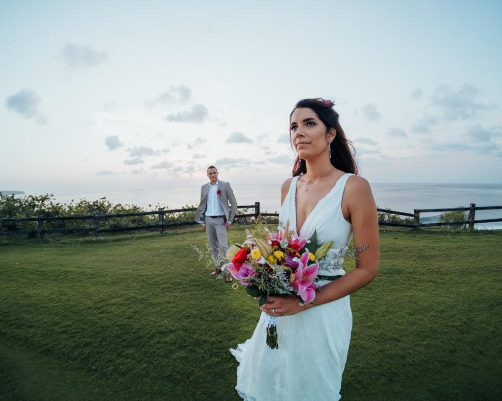 Les maries sur le golf de Bali